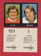 Arsenal Pat Rice & Leeds United John Hawley